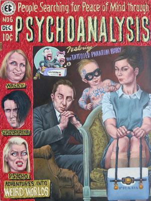 Gemälde 509  Psycho,Acryl auf Hartfaserplatte,2015,60x80cm