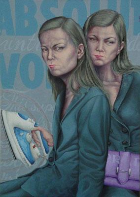 Gemälde 416  Absolut  Acryl auf Leinwand,2012,  85 x 120 cm