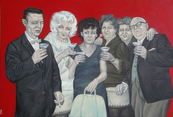 Gemälde 425 Empfangskomitee der Hölle, Acryl auf Leinwand,2012, 110 x 160 cm