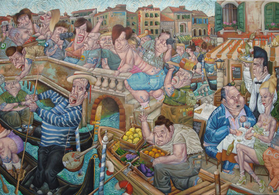 Gemälde  412. Mondo Rialto, Acryl auf Leinwand, 2011, 105 x 150 cm