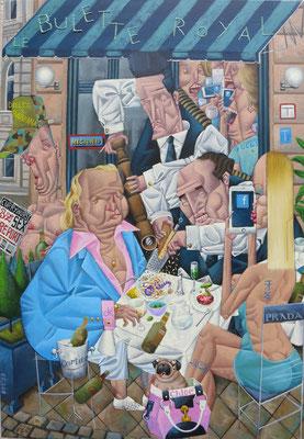 Gemälde 532 Le Bulette Royal, Acryl auf Leinwand,2016, 55 x 80 cm