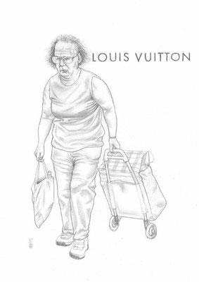 Zeichnung 440  Louis Vuitton  Graphit auf Karton,2011,  30x42 cm