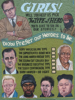 Gemälde 510, Type of Hero , Acryl auf Hartfaserplatte ,2015, 60 x 80 cm