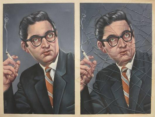 Gemälde 567 Porträt vol 1 , Acryl auf Leinwand, 2017, 50 x 65 cm