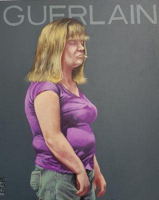 Gemälde 654,GUERLAIN Vol 1,Acryl auf Hartfaserplatte ,2020,30 x 24 cm