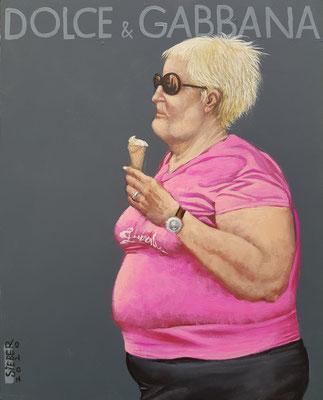 Gemälde 674, D & G Vol 4,Acryl auf Hartfaserplatte ,2020,30 x 24 cm