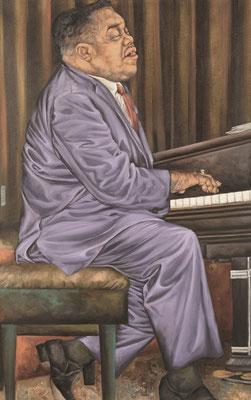 Gemälde 333  Fat Man Beat  Acryl auf Leinw.,2009, 50 x 80 cm