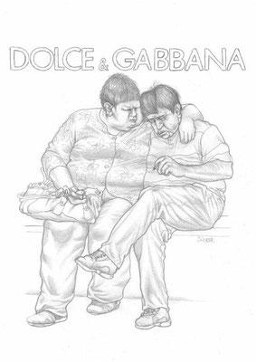 Zeichnung 443  Dolce & Gabbana  Graphit  auf Karton,2011,  30x42 cm