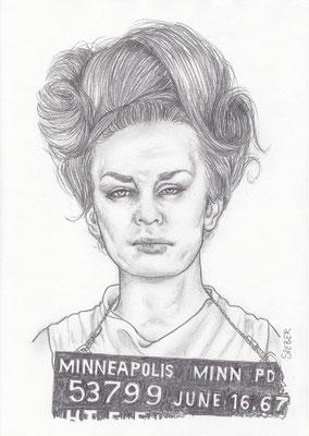 Zeichnung 431  Minneapolis 53799 Graphit   auf Karton,2012,  21x30 cm