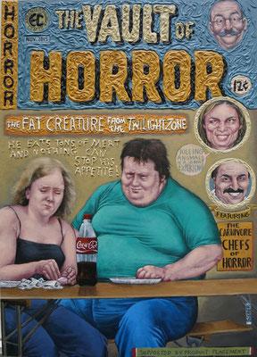 Gemälde 505,Vault of Horror, Acryl auf Hartfaserplatte ,2015, 50 x 70 cm
