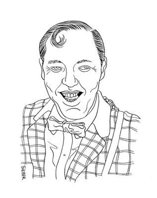 Zeichnung 241  Bill Haley  Tusche auf Karton,2009, 25 x 32,5 cm