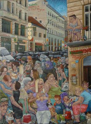 Gemälde  439. Berliner Tanz, Acryl auf Leinwand,2013, 100 x 135 cm