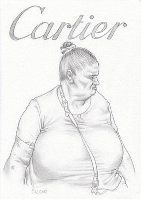 Zeichnung 451  Cartier  Graphit  auf Karton,2011,  21x30 cm
