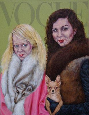 Gemälde 402  ,Vogue    Acryl auf Leinwand,2011,  100 x 130 cm