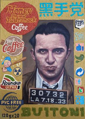 Gemälde 628,BUITONI,Acryl auf Hartfaserplatte,2019, 50 x 70 cm
