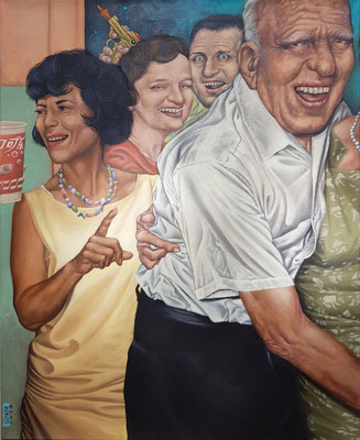 Gemälde 558,Mambo Jambo , Acryl auf Leinwand, 2017/2020, 65 x 80 cm