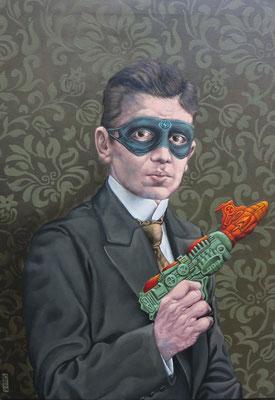 Gemälde 491,The Masked Avenger, Acryl auf Leinwand ,2015, 60 x 85 cm