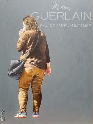 Gemälde 633,MON GUERLAIN, Acryl auf Hartfaserplatte,2019, 30 x 40 cm