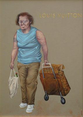 Gemälde  445, Louis Vuitton, Acryl auf Hartfaserplatte,2013, 50 x 70 cm