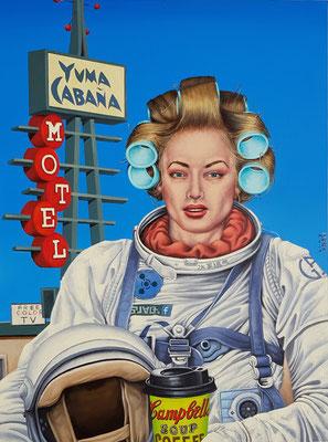 Gemälde 608, Yuma Cabana, Acryl auf Hartfaserplatte,   2019 , 60x 80 cm