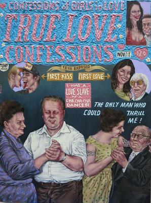 Gemälde 507,True Love, Acryl auf Hartfaserplatte ,2015, 60 x 80 cm