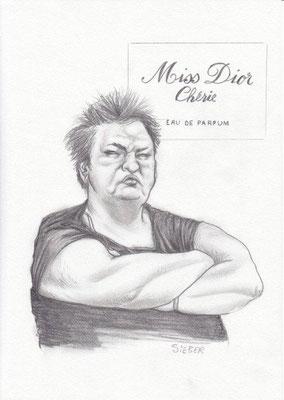 Zeichnung 453  Miss Dior Cherie  Graphit  auf Karton,2011,  21x30 cm