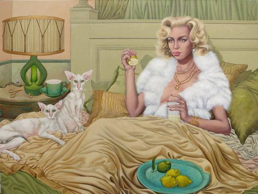Gemälde  468 Lemon Love, Acryl auf Leinwand 120 x 160 cm