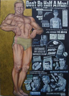 Gemälde  442   Half Man   Acryl auf Leinwand,2014,  115 x 160 cm