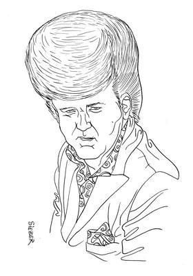 Zeichnung 352  Wayne Chochran  Tusche auf Karton,2010, 25 x 32,5 cm