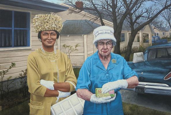Gemälde Gemälde 550, FASHION CONFESSION , Acryl auf Leinwand, 2017, 115 x 170 cm