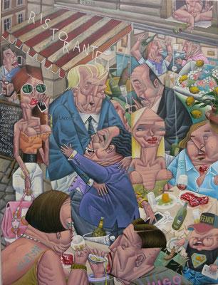 Gemälde  519. Berliner Restaurant Sex, Acryl auf Leinwand, 2016, 53 x 70 cm