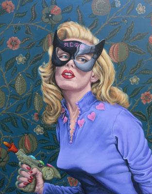 Gemälde 493,Phantom Lady 1 , Acryl auf Leinwand ,2015, 75 x 95 cm