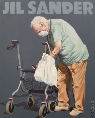 Gemälde 671,JIL SANDER Vol 1,Acryl auf Hartfaserplatte ,2020,30 x 24 cm