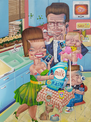Gemälde 613,Enjoy, Acryl auf Leinwand, 2019, 60 x 80 cm
