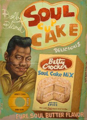Gemälde 404  Soul Cup Cake   Acryl auf Pappe,2010,  70 x 100 cm