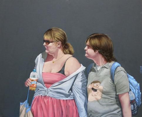 Gemälde  465 Family Guy, Acryl auf Hartfaserplatte,2014, 50 x 60 cm