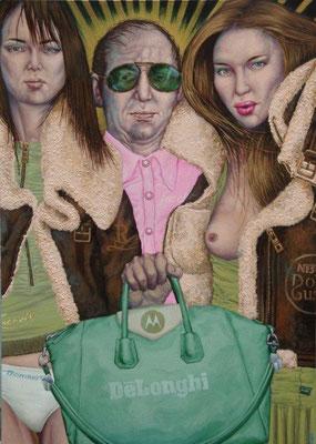 Gemälde 417,  Delonghi  Acryl auf Leinwand,2012,   85 x 120 cm
