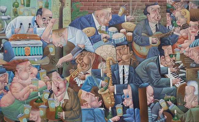 Gemälde 604 , Be Bop Caffee, Acryl auf Leinwand,2018, 50 x 80 cm