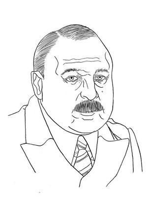 Zeichnung 58  Jim Colosimo  Tusche auf Karton,2006,  24 x 32 cm
