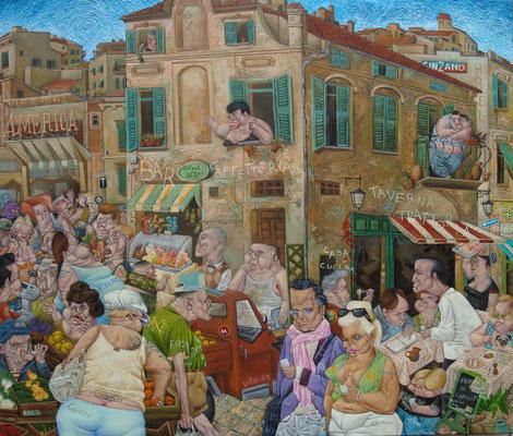 Gemälde  438. Cinema Americano, Acryl auf Leinwand, 2013, 120 x 140 cm