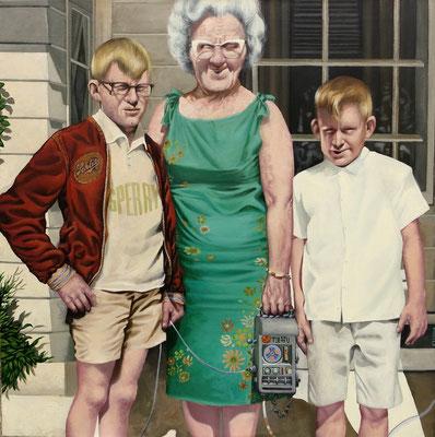 Gemälde 552, Outdoor Conection, Acryl auf Leinwand, 2017,80 x 80 cm