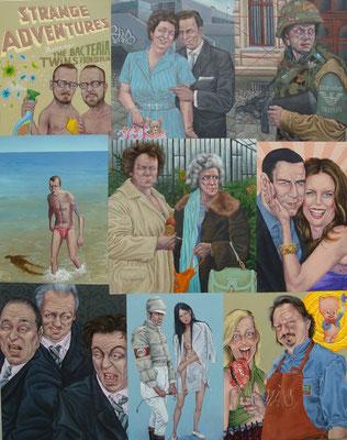 Ge Gemälde 473. Strange Adventures Vol 2 , Acryl auf Leinwand, 150 x 190 cm