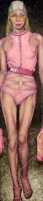 Gemälde 406, Model 2 Acryl auf Leinwand,2011,  60 x 220 cm