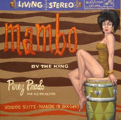 Gemälde 391  Mambo, Acryl auf Leinwand, 2011, 120 x 120 cm