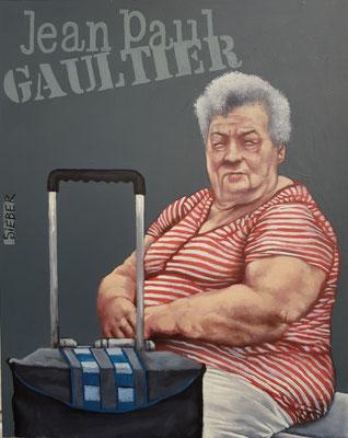 Gemälde 658,JEAN PAUL GULTIER Vol 1,Acryl auf Hartfaserplatte ,2020,30 x 24 cm