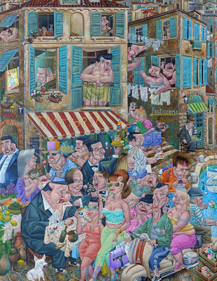 Gemälde     529. Ciao Bella, Acryl auf Leinwand, 2016, 140 x 180 cm