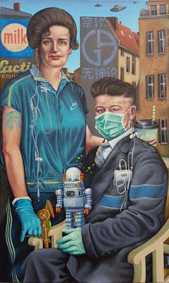 Gemälde 640,Berliner Ansichten ,Acryl auf Leinwand,2020, 60 x 100 cm