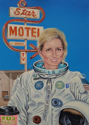 Gemälde 677, STAR MOTEL ,Acryl auf Hartfaserplatte,2020,70 x 50 cm