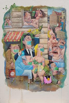 Gemälde 648,BAR BERLIN ,Acryl auf Leinwand,2020,40 x 60 cm
