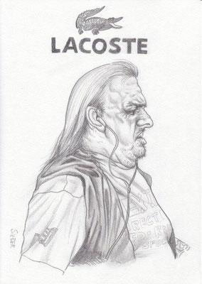 Zeichnung 454  Lacoste  Graphit  auf Karton,2011,  21x30 cm